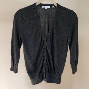 Vince grey 3/4  v neck sleeve cashmere sweater
